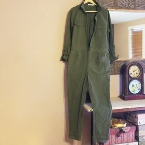 Super awesome jumper overall cotton pantsuit